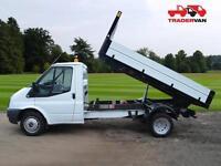 15 FORD TRANSIT 2.2 TDCi T350 125ps Medium Wheel Base Single Cab Tipper DIESEL