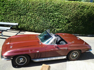 1966 corvette conv.,match. #,fully restored,2 tops