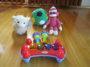Beanie Baby Sock Monkey, Embrace Lamb (New), and more...