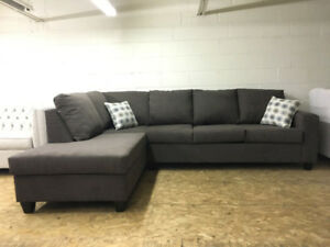 BRAND NEW CANADIAN MADE SECTIONAL IN DARK BROWN MICROFIBER