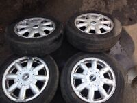 "MINI 15"" Alloy Wheels with very good tyres"