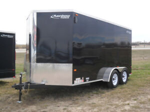 """New 2017 Canadian Made Rainbow  7'x14'x6'6""""high Enclosed Trailer"""