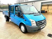 Ford Transit T350 2.4td 140ps Crew cab tipper. 2011/11. Rare Colour!!