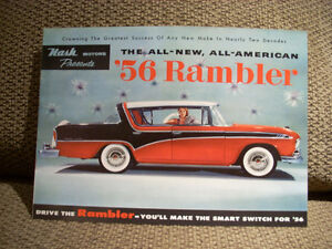 1956 nash rambler sales brochure