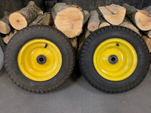 Front wheels and tires for JD 345 lawn tractor