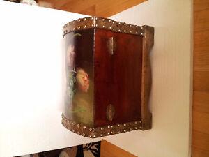 Handpainted wooden storage chest nesting box keepsake London Ontario image 7