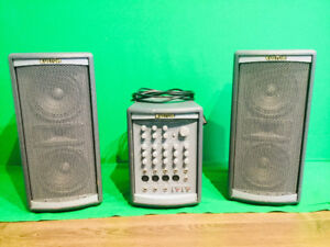 Kustom System One PA with Mixer Speakers and Case