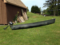 Old Town canoe and Motor