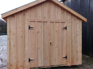 Western red cedar sheds and red pine sheds  FREE DELIVERY