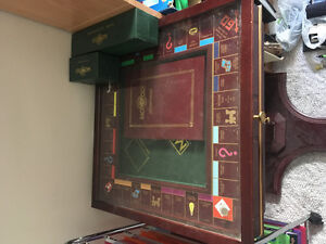 Monopoly board game table
