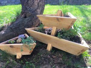 Handmade cedar planters