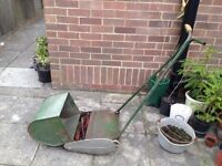 Vintage Atco push lawnmower
