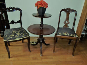 reduced two VICTORIAN ANTIQUE PARLOUR CHAIRS 99.00 EACH