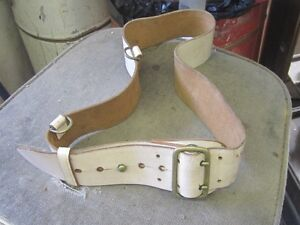 WW2 BROAD ARROW LEATHER BELT $20 WHITE DRESS BELT $10
