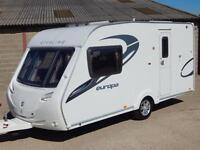 Sterling Europa 460, 2011, 2 Berth Luxury Caravan, End Washroom, VGC!