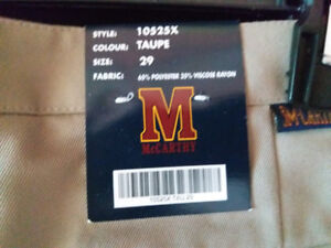 NEW: MACARTHY UNIFORM SCHOOL PANT WITH TAG (SIZE:29)