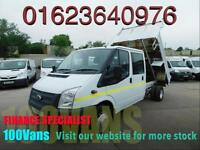 FORD TRANSIT 2.2TDCI T350L DOUBLE CAB TIPPER FINANCE ARRANGED