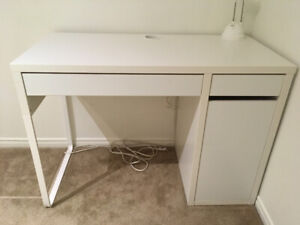 IKEA Micke Desk with 2 drawers and shelf