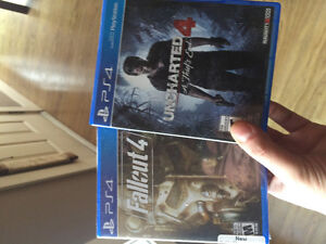 Uncharted 4 and Fallout 4.$50