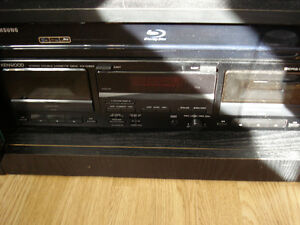 VCR and Kenwood Tape Deck