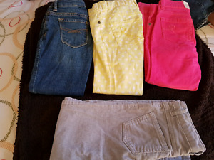 Girls Jeggings, jeans and cords size 6