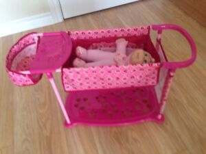 Doll bed and baby
