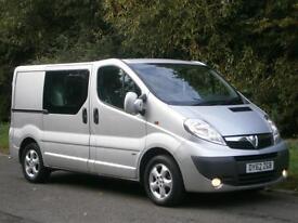 2012 Vauxhall Vivaro Sportive 2900 CREW CAB IN VAN 6 seater, FINANCE??