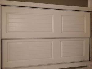 White composite sliding doors