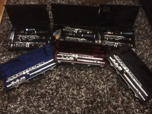 2 Clarinets + 2 Flutes (Excellent Quality Band Instruments). Fro