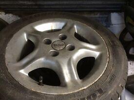 "14"" alloy wheels fiat abarth Punto sporting"