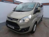 2013 63 FORD TOURNEO CUSTOM 2.2 300 LIMITED TDCI 5D 153 BHP 9 SEATER CREW VAN D