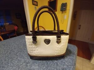 Ladies White/Brown Purse For Sale