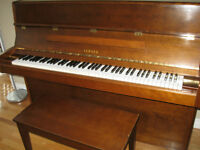 Reduced!!Yamaha upright piano and bench, moving sale, must go