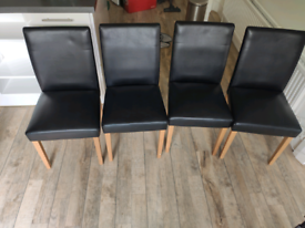 Set of 4 Leather Dining Chair
