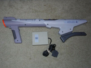 SNES - Super scope with Super scope 6 game & sensor - Used