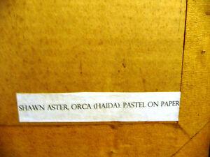 "Blackfish Artist, Original Haida Mask Pastel, Shawn Aster ""Orca"" Stratford Kitchener Area image 7"