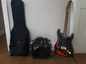Fender Stratocaster w/ Amp, Bag and Stand