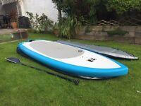 Surf stand up paddle board SUP really stable, catches waves like a longboard easy to turn.