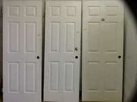 6 panel interior doors (3 sizes available)