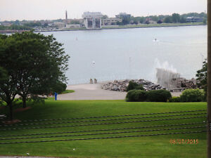 Gorgeous waterfront views from executive furnished condo