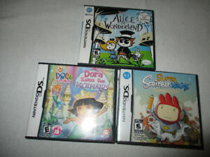 nintendo ds games set of three
