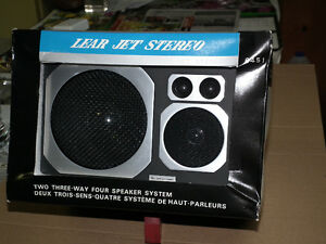 4  WAY SPEAKERS  LEAR JET  6 X 9  SIZE NEW IN BOX .