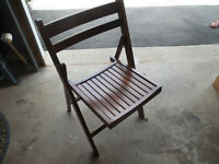 4 wooden folding chairs