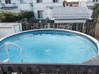 Salt treated pool - 18ft - heater included