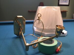 Solid Brass wall lamp, brand new in original packaging & box