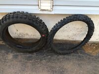 Dirtbike tires $40.00 Older tires never used