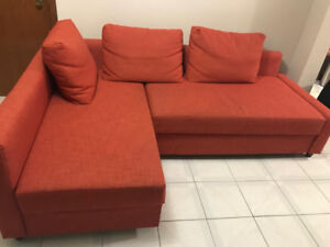 VIMLE Red Sectional Sofa, with chaise