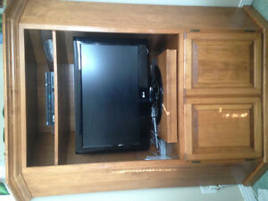 Solid Wood Corner Entertainment Unit
