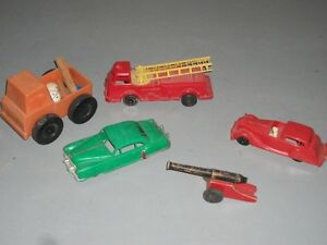 Toy Trucks, Cars - plastic  - 1950's