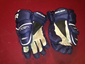 "Hockey GLOVES - BAUER VAPOUR 20 - BLUE - 14"" size"
